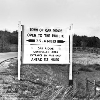 April-1949-City-Limits-with-Restriction-Sign-of-Town-Oak-Ridge