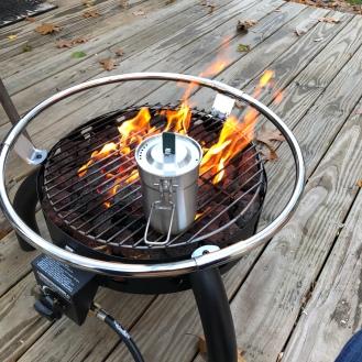 Love my gas firepit