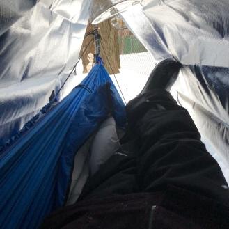 Testing my new thermal tarp